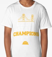 Golden State Champions with Golden Gate Bridge 2017 T-Shirt Long T-Shirt