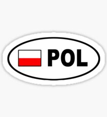 POLAND BUMPER STICKER Sticker