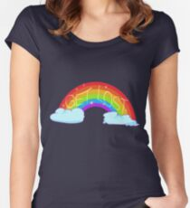 """GET LOST"" Rainbow Women's Fitted Scoop T-Shirt"