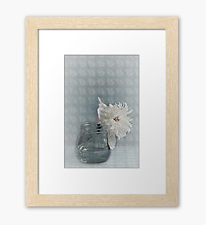 Vintage Peony on the Table Framed Print