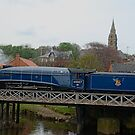 Sir Nigel Gresley crossing the River Esk by dougie1