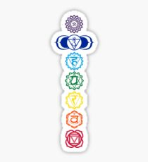 7 Colored Chakras for Yoga Sticker