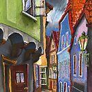 Chesky Krumlov Old Street 2 by Yuriy Shevchuk
