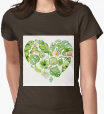 Tropical leaves seamless pattern, exotic monstera jungle print T-Shirt