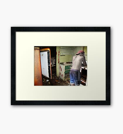 Kitchen Disasters Framed Print