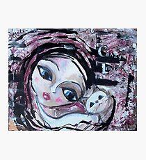 Cat Adoption Advocacy Folk Art Painting Loralai Photographic Print