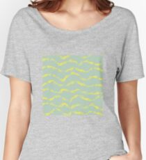 Abstract brush stroke pattern Women's Relaxed Fit T-Shirt