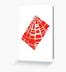 3.6 - scattered pieces - red Greeting Card