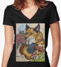 Fox Bae Women's Fitted V-Neck T-Shirt