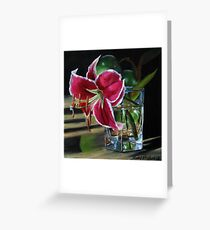 Stargazer Lily and Green Apples Greeting Card