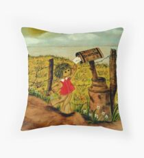 Sending A Letter  Throw Pillow