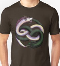 Wolf and dragon Unisex T-Shirt