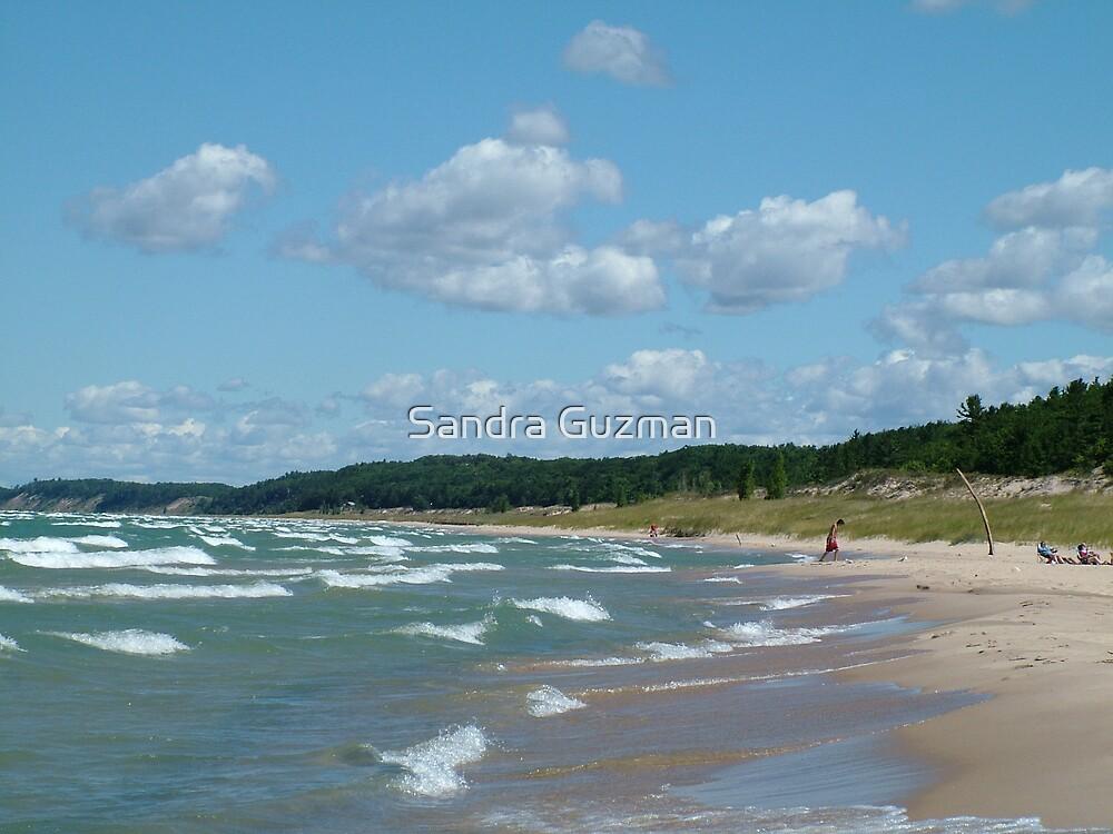 Manistee, Lake Michigan Shores by Sandra Guzman