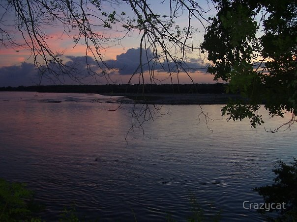 Sunset on the Rufiji River - Tanzania by Crazycat