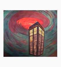 Tardis in Space Photographic Print
