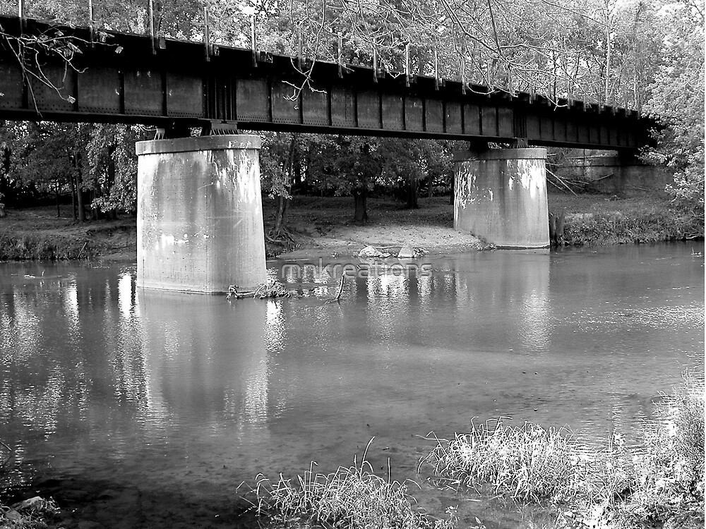 Railroad Bridge over Sugar Creek by mnkreations