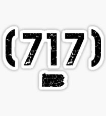 Area code 717 Pennsylvania Sticker