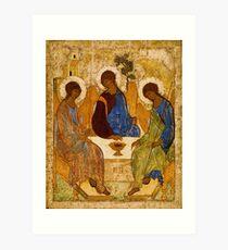 Holy Trinity Painting Rublev Trinity Print Icon Christian Religious Wall art Art Print