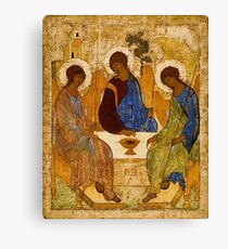 Holy Trinity Painting Rublev Trinity Print Icon Christian Religious Wall art Canvas Print