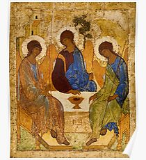 Holy Trinity Painting Rublev Trinity Print Icon Christian Religious Wall art Poster