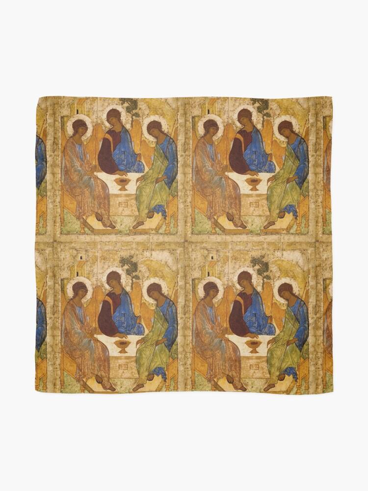 Alternative Ansicht von Heilige Dreifaltigkeits-Malerei Rublev-Dreiheits-Druck-Ikone Christian Religiöse Wandkunst Tuch