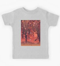 Silhouette of a stag in the forest at the autumn time 2 Kids Tee