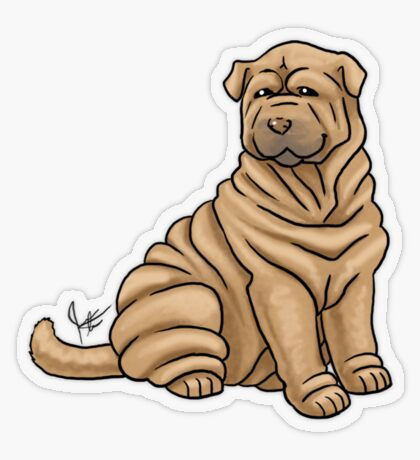 Chinese Shar Pei Transparent Sticker
