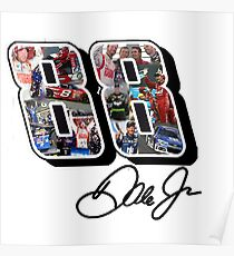 Dale Earnhardt Jr Tribute Design - #ThankYouDale (Assorted Products) Poster