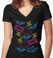 'Dreams of a Northcote Rockstar' Women's Fitted V-Neck T-Shirt