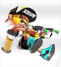 Splatoon 2 Yellow Inkling  Poster