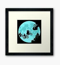Stranger Kids Moon by zerobriant Framed Print