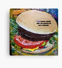 The Jewish Kosher Hamburger Deli Canvas Print