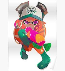 Splatoon 2 Salmon Run Inkling Poster