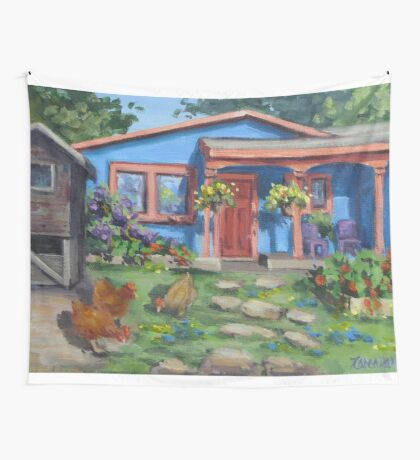 The Blue House Wall Tapestry