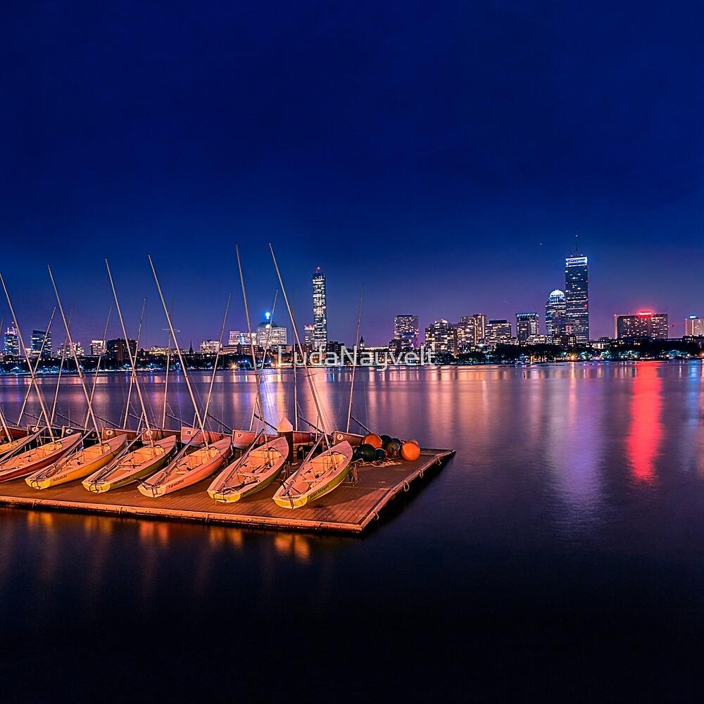 Blue Night. Cambridge MA by LudaNayvelt