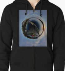 Foyle Marina at Dawn, Stereographic Zipped Hoodie