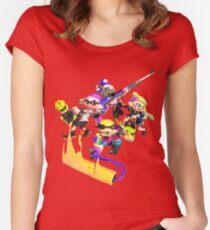 Splatoon 2 Artwork Women's Fitted Scoop T-Shirt