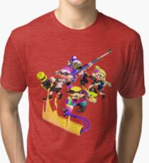 Splatoon 2 Artwork Tri-blend T-Shirt