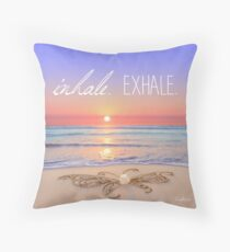 Inhale - Exhale. Throw Pillow