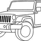 Jeep Wrangler Line Art by coleenross