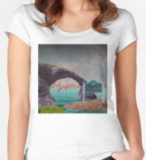 Greetings from Leisure Shores Women's Fitted Scoop T-Shirt