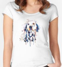 Dalmatian Head Women's Fitted Scoop T-Shirt
