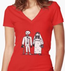 getting hitched Women's Fitted V-Neck T-Shirt