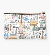 FRIENDS flatlay illustration central perk quote  Studio Pouch