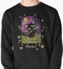 Schwarze Katze,Geschenke für Katzenfans Pullover