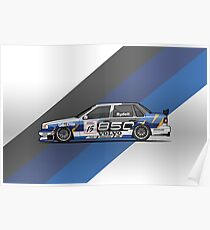 Volvo 850 Saloon TWR BTCC Racing Super Touring Car (1995) Poster