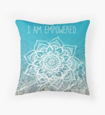 I Am Empowered Throw Pillow