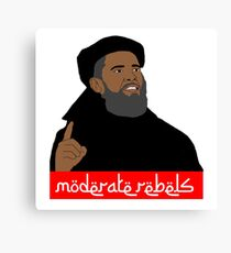 Obama ''moderate rebels'' shirt Canvas Print