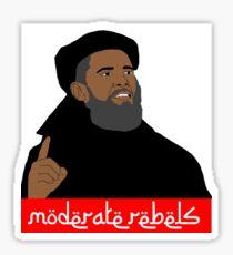 Obama ''moderate rebels'' shirt Sticker