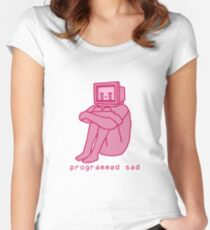 Programmed Sad - Pink Women's Fitted Scoop T-Shirt